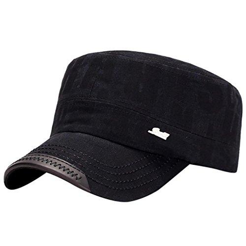 Haoricu Baseball Hat, 2017 Hot Sale!Fashion Unisex Classic Plain Vintage Military Style Adjustable Cap Hat (Black ❤️)