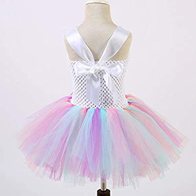 O'COCOLOUR Unicorn Costume for Girls Kids Birthay Party Unicorn Tutu Dress Outfit with Headband Size 2T 3T 4T 5T 6T 7T 8T: Clothing