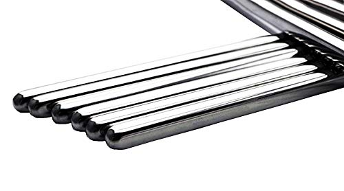 Stainless Steel Chopsticks Metal Chinese Chopsticks 10 Pairs