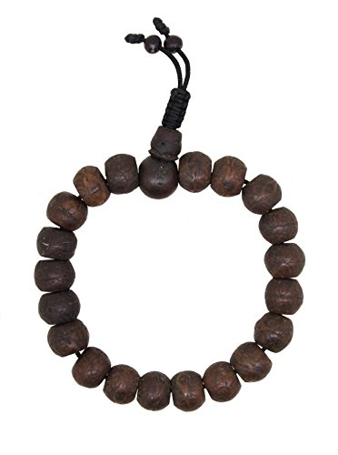Wrist Mala (Yoga Meditation Wood Bodhi Seeds Prayer Beads Wrist Mala Stretch Bracelet (Bodhi Seeds))