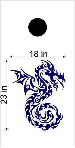 Dragon Mythical Creature GOT コーンホールボードデカールステッカー グラフィック 02 B07HRVP1SF