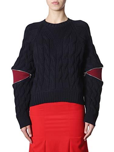 Alexander McQueen Women's 585177Q1aa64030 Blue Wool Sweater