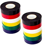 Color Electrical Tape 1.8Cm20M Use Your Indoor/Outdoor PVC Vinyl To Color-Code Your Electrical Wiring Securely, UL Certified To 600V