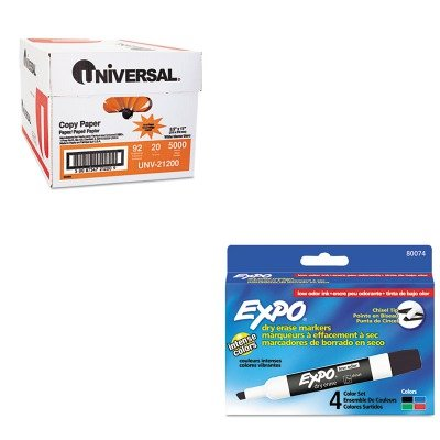 KITSAN80074UNV21200 - Value Kit - Expo Low Odor Dry Erase Markers (SAN80074) and Universal Copy Paper (UNV21200)
