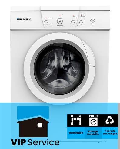 Sèche-cheveux EVACUATION MILECTRIC 7 kg (plaque avant, pompe à chaleur, capteurs LED, blanc, indépendant) 7 KG con INSTALACION