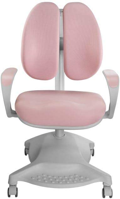 Computer Desk Chair Adjustable Children Chair w//Adjustable Height Lumbar Support Ergonomic Kids Study Chair Pink for Homeschooling Learning Reading