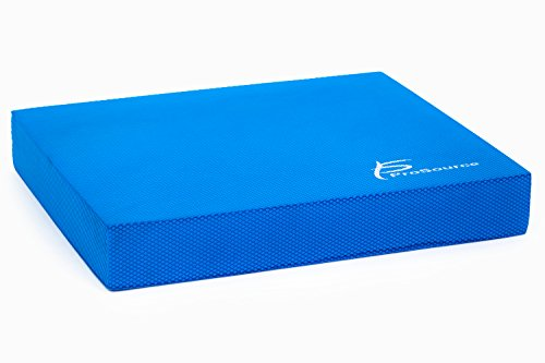 ProSource ps-1037-bp-r-blue Exercise Balance Pad - Non-Slip Cushioned Foam Mat & KNEE Pad for Fitness & Stability Training, Yoga, Physical Therapy 15.5' x 12.5', Blue