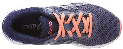 Asics Jungen Gt-1000 6 GS Laufschuhe Blau (Smoke Blueindigo Blue Begonia Pink 5649)