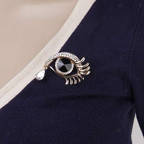 Brooch Fashion Animal Insect Ribbon Christmas Party Costume Lapel Pin Jewelry (Item - Angel Tears Eye)
