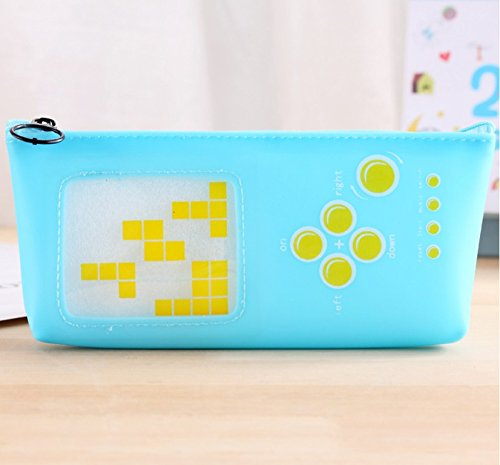 YChoice Student Supplies 3Pcs Creative Hand-Held Gaming Device Shape Pen Pencil Case Pencil Cases Pencil Bag(Sky-Blue,Yellow)