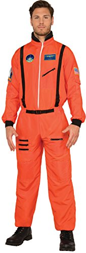 Adult Orange Astronaut Costumes (Men's Shuttle Commander Astronaut Moon Walk Suit Costume Large 42-46)