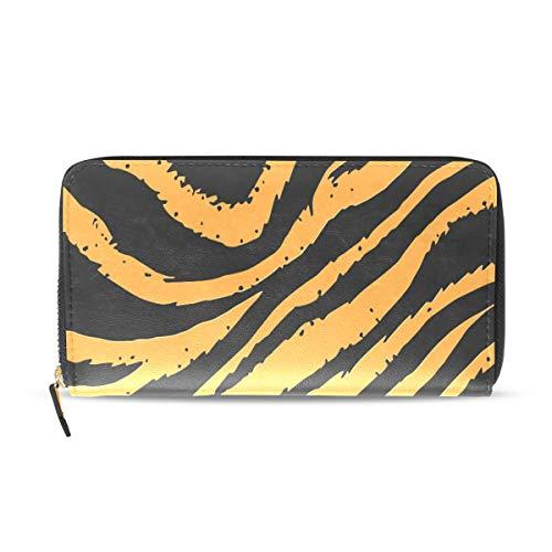 Clutch Tiger (Wallet Clutch Tiger Stripes Skin - Card Cases Money Organizers, CuiLL PU Leather Handbag for Men Women)