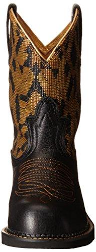 ARIAT WOMEN Damen Fatbaby Kollektion Western Cowboystiefel Vintage schwarz / goldene Decke rot