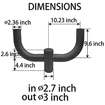 Image of 1000LED 180 Degree Double Bullhorn Mounting Bracket for 2 Lights, 2 3/8 inch Slip Fitter Light, Mounting Bracket for LED Shoebox Light, Street Light, Area Light, Home Improvements
