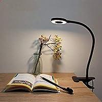 Lámpara de Pinza LED, Lypumso Luz Escritorio con Pinza de Protección Ocular, 2 Modos Ajustables, Blanco Frío/Cálido, 360…