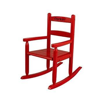 Amazon Com Kidkraft Red Personalized Slat Rocking Chair Parker Baby