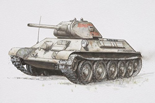 Russian T 34 Armored Tank World War II WWII Art Print Poster