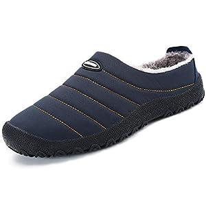 katliu Chaussons Femme Homme Pantoufles Hiver Chaud Chaussures D'Intérieur Extérieur avec Fourrure Confortable,Semelle…