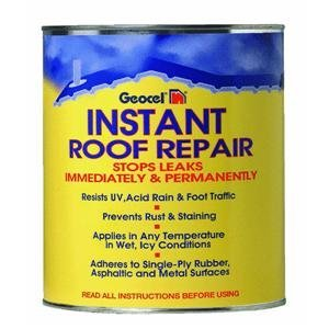 Geocel 25200 Instant Roof Repair Brushable Coating, 1 qt, Clear (Shingle Flat Roof)