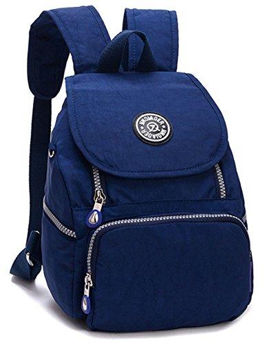 Mini Donna Borse Nylon Casual Backpack Blu Viaggio Ragazze Scuro Zaini Di Daypack Zaino Estwell Impermeabile PTw1nxUqq