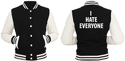 I Hate Everyone College Vest Girls Black