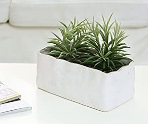 Amazon Com 10 Inch Rectangular Faux Stone Ceramic