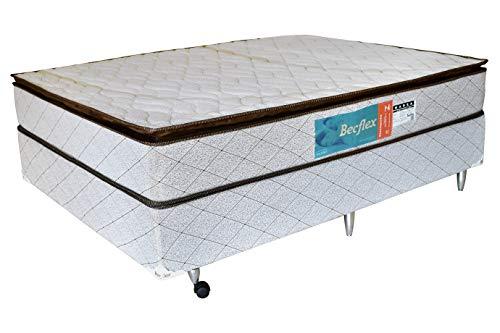 Conjunto Box Completo Casal Becflex Marea. 1,38 x 1,88 x 0,54(Cama Box + Colchão)