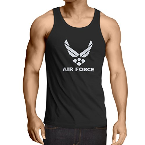 Vest United States Air Force (USAF) - U. S. Army, USA Armed Forces (Medium Black White)