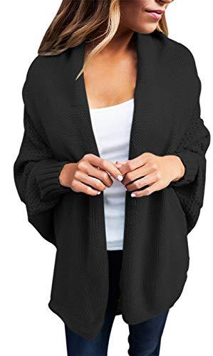 Manica Forcella Giacche Autunno Pipistrello Maglia Libero Outerwear Relaxed Eleganti A Giacca Tempo Mode Kaffee Aperto Di Donna Marca Monocromo Bolawoo Cappotto Fashion wpqUOg8O
