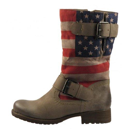 Marco Tozzi 25433 367 Winterstiefel, USA, stars & stripes, mit warmem Futter: Schuhgröße: 41
