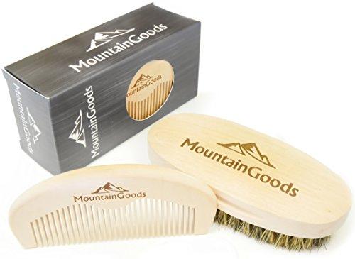 Bartbürste und Kamm, Bartpflege Set