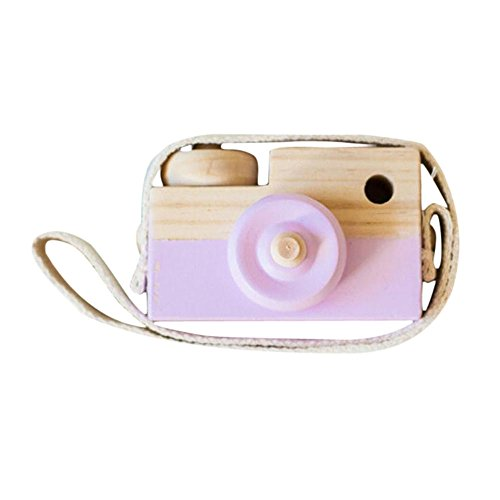 Accessories Fashion Purple (Allywit Baby Kids Cute Wood Camera Toys Children Fashion Clothing Accessory Safe And Natural Toys Birthday Christmas Gift (Purple))