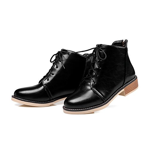Boots Black Pointed Comfort BalaMasa Resistant Womens Toe ABL09910 Vinyl Slip Platform R87Uq