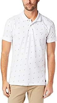 Camisa Polo Micro Estampa, Colcci, Masculino