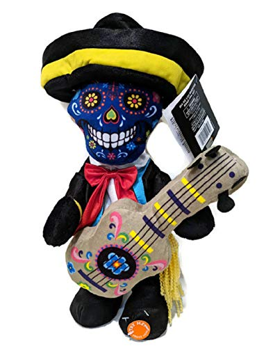Happy Halloween Day of The Dead Sugar Skull Animated Plush Skeleton Plays Despacito feat Daddy Yankee