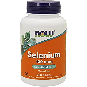 NOW Selenium 100mcg,250 Tablets