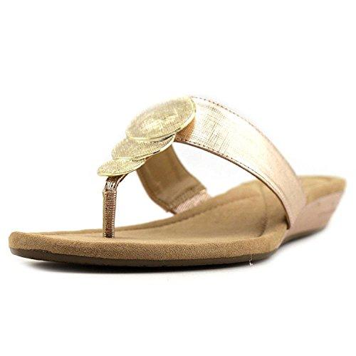 Alfani Womens Fleurr Open Toe Casual Slide Sandals, Quartz, Size 8.5