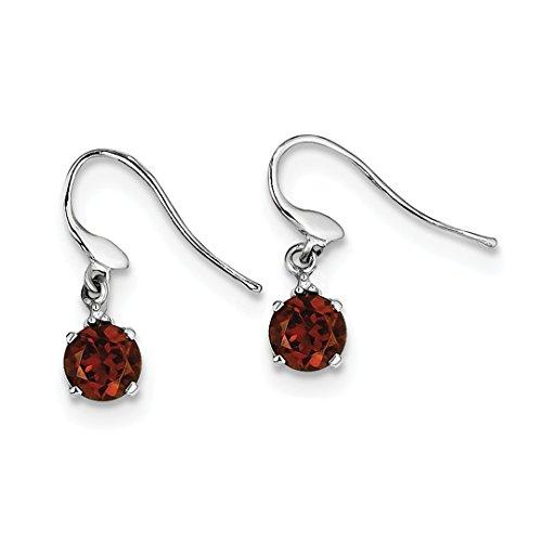 ing Silver Round Red Garnet Diamond Wire Drop Dangle Chandelier Earrings Fine Jewelry Ideal Gifts For Women Gift Set From Heart (Cut Diamond Wire)