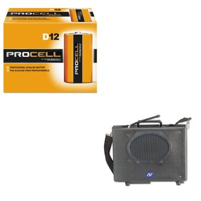 KITAPLSW222DURPC1300 - Value Kit - Amplivox Wireless Audio Portable Buddy Professional Group Broadcast PA System (APLSW222) and Duracell Procell Alkaline Batteries (Wireless Buddy Pa System)