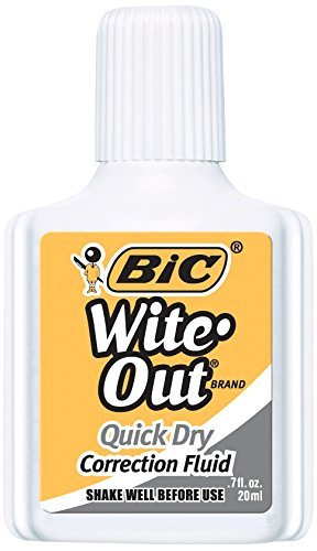 Wite-Out Quick Dry Correction Fluid, 20 ml Bottle, White, 1/Dozen by BIC by BIC CORP. (Image #2)
