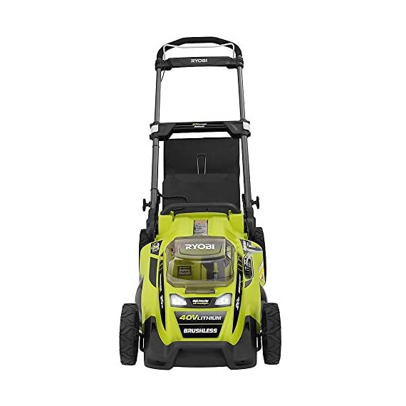 "Ryobi RY40180 40V Brushless Lithium-Ion Cordless Electric Mower Kit, with 5.0Ah Battery, 19.88"" x 40.748"" x 22.677"" 2 Grounds & Pool Supplies/Outdoor Power Equipment Made in: United States Dimensions: 19.88 X 40.748 X 22.677"