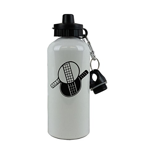 Personalized Custom Ping Pong Aluminum White Finish 20 Ounce 600ML Sport Water Bottle Customizable by CustomGiftsNow