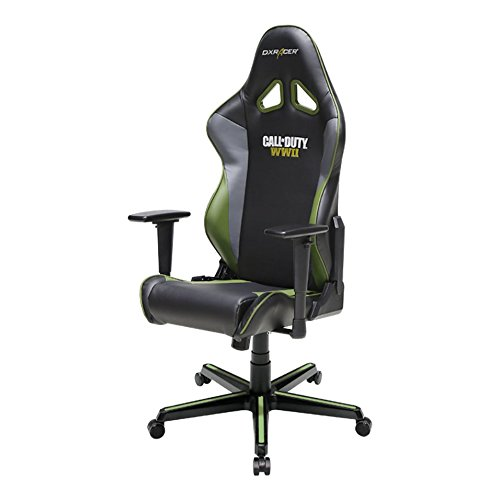 DXRacer DOH/RZ52/NGE Call of Duty: WWII Newedge Edition Racing Bucket Seat Office Chair Gaming Chair Ergonomic Computer Chair eSports Desk Chair Executive Chair Furniture With Pillows