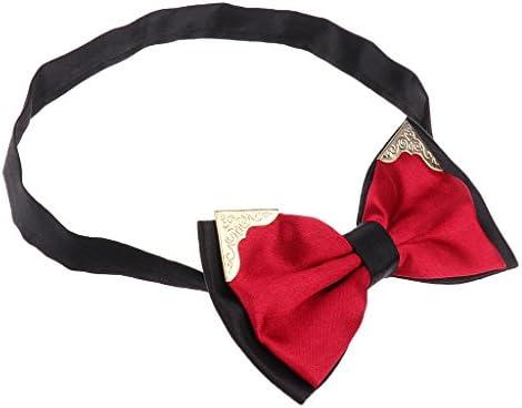 男性のための 蝶ネクタイ事前結ばれた調節可能な結婚式のネクタイ