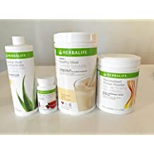 HERBALIFE QUICK COMBO - FORMULA 1 SHAKE MIX (Vanilla), PERSONALIZED PROTEIN, HERBAL ALOE (Mango), HERBAL TEA CONCENTRATE (Raspberry) by Herbalife