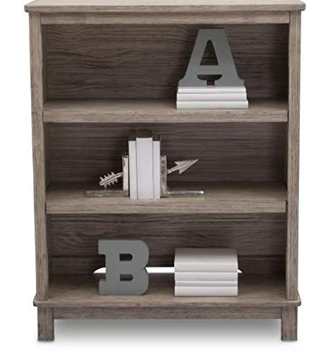 (Simmons Kids Slumber 4 Drawer Dresser Time Monterey Bookcase/Hutch (Rustic White) )