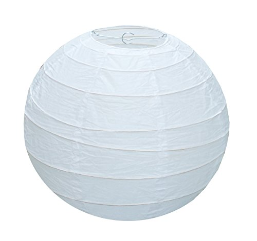 URGREAT 10 Inch White Round Chinese/Japanese Paper Lanterns Lamp Shades (5 Pack) (10inch) -