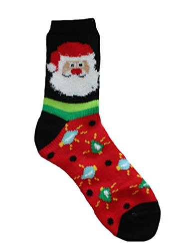 Ugly Sweater Christmas Santa Socks
