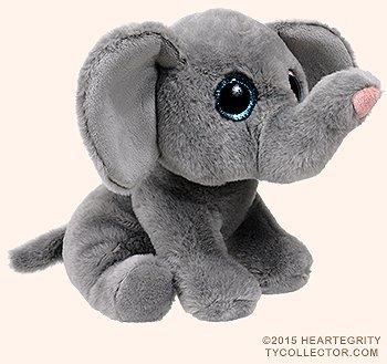 Ty Classic Beanies TY Classic Plush -TY Classic Plush - WHOPPER the Grey Elephant (13 inch from tail) 25cm Medium Buddy Size 9'' …