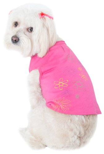Fashion Pet T-Shirt, Floral Pink, Small, My Pet Supplies